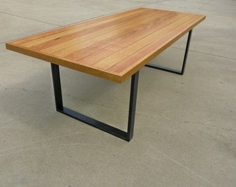 Reclaimed Timber Table with Steel Legs