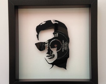 Buddy Holly 'Wishing'  Vinyl Record Art