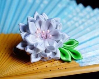 Small lotus hair clip kanzashi
