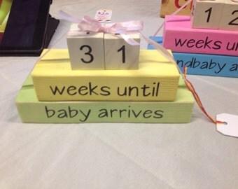 Weeks until baby/grandbaby countdown block set
