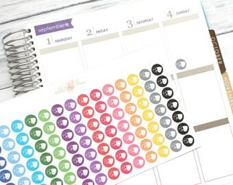 Theatre Mask Icon Planner Stickers - Pastel or Bright - Matte