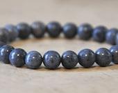Mens Natural Blue Sponge Coral Stretch Bracelet, Unisex Jewelry, Genuine, Healing, Wisdom, Protection, Love Bracelet, Chakra Bracelet &more