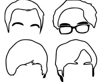 Big Bang Theory decal silhouettes FREE SHIPPING!!