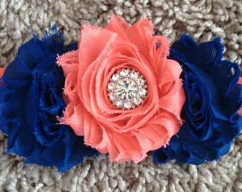 Super cute three flower with bling headband!