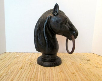 Mid 19th Century CI Horse Head Hitching Post