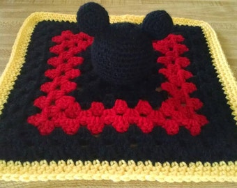 Disney inspired mickey mouse security blanket/lovey