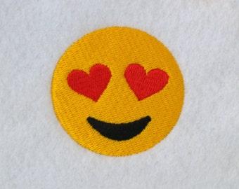 Heart Eyes Emoji Emoticon Machine Embroidery Design download