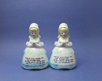 Praying Ladies Salt and Pepper Shakers