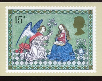 The Annunciation Christmas PHQ Stamp Series Postcard C482