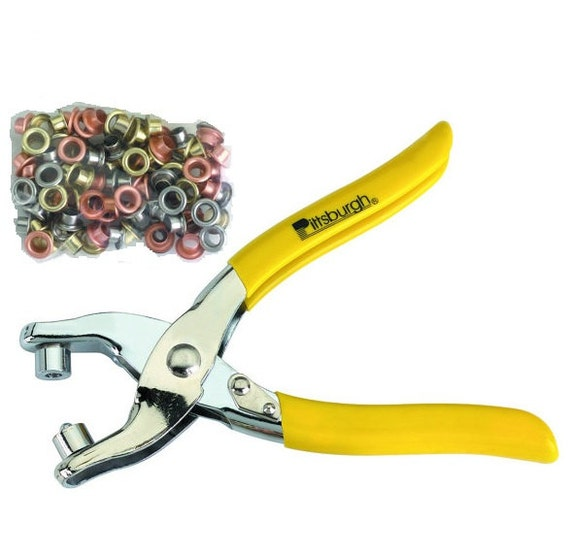 Grommet Pliers and 100 Grommets used to apply grommets to belts shoes ...
