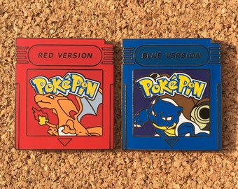 Pokemon Red & Blue Version Hat Pins