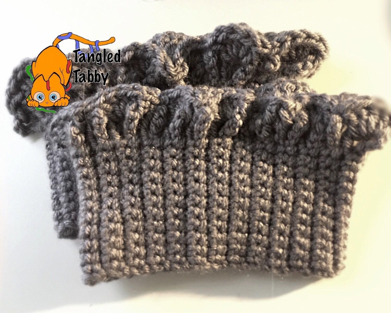 Crochet Boot Cuff Easy Pattern : Crochet Pattern Crochet Boot Cuff Pattern Boot Cuff Pattern