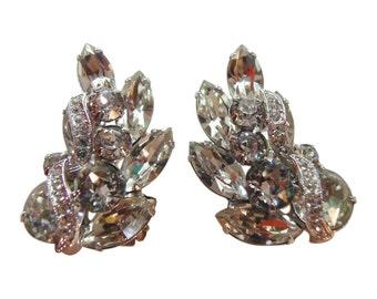 Classic Eisenberg Rhinestone Earrings Vintage 1950 Bridal Earrings