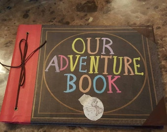 NEW!!!!! Our Adventure Book Memory Book, Wedding Album, Photo Book,  8 1/2 x 11 Large Book