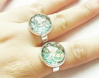 Steampunk Watch Part Ring // Steampunk Jewelry // Steampunk Ring // Watch Part Jewelry // Adjustable Ring