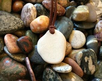 Beach Stone Necklace 18 inch