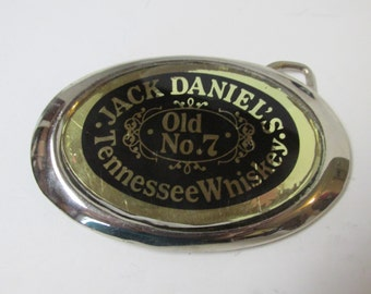 Vintage Jack Daniels Tennessee Whiskey Old No 7 Belt Buckle
