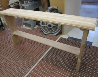 Entry Table / Sofa Table / Console Table Narrow Sofa Table Wood Slab Entry Table Handcrafted with Cherry Wood  and just a touch of Maple