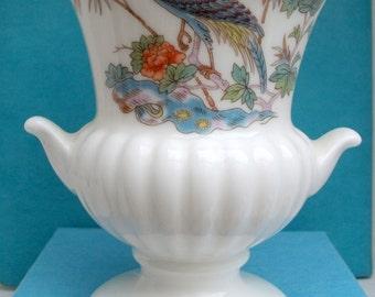 Wedgewood  Kutani Krane bone china small urn shape vase