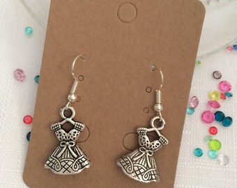 Silver tone dress earrings