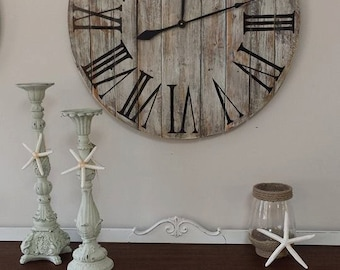 "30"" Wall Clock - Reclaimed wood"