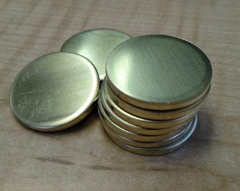 10 Gauge Brass Discs