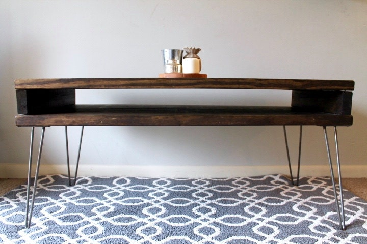 Mid Century Modern Coffee Table Coffee Table Hairpin Legs