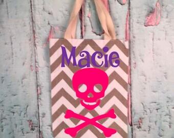 Girl or Boy Halloween Trick or Treat Bag-Skull