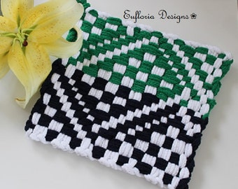 Xl Woven Hot Pad Set Cotton Looped Handmade By Eufloriadesigns