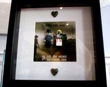 Personalised WALKING DEAD wedding Lego Mini-Figure Wedding Picture - Extra Large.
