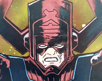 Galactus - Fantastic Four - 16x20 Outer Space Mixed Media Painting
