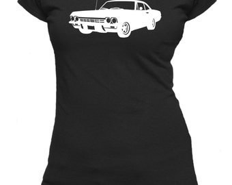 Chevrolet Impala '65. Ladies fitted t-shirt.