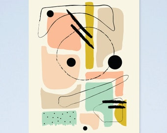 SALE! Abstract arty art print A4 05