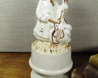 Musical Porcelain Figurine - Girl With Musical Instrument