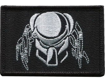 Black PREDATOR Military Tactical Airsoft Paintball Morale Operator Cap Patch