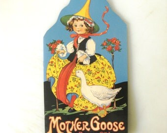 Mother Goose Book of Rhymes, Gallery Graphics Reproduction, Nursery Decor