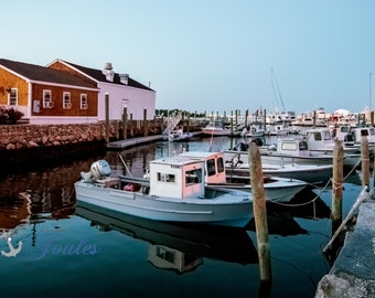 Limited Edition ~ Wickford Fishing Boats ~ Wickford, Rhode Island, Sunset, Boats, Wickford Harbor, Summer, Fine Art Canvas, New England
