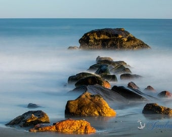 Scarborough Stones ~ Scarborough Beach, Narragansett, Rhode Island, New England, Ocean, Coastal, Seascape, Art, Photograph, Home Decor, Art