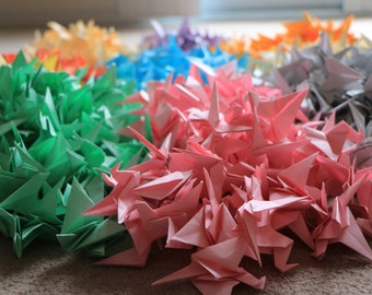 1000 Origami Flapping Cranes! 10 Different Colours!