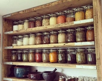 Rustic shelves made from reclaimed scaffold timber. (Custom made wooden shelves)