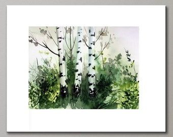 MATTED ARCHIVAL PRINT from Watercolor Painting
