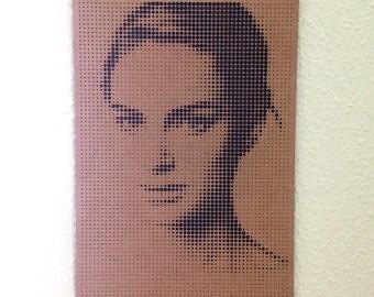 Natalie Portman modern Wall Art (100% unique/laser cut)