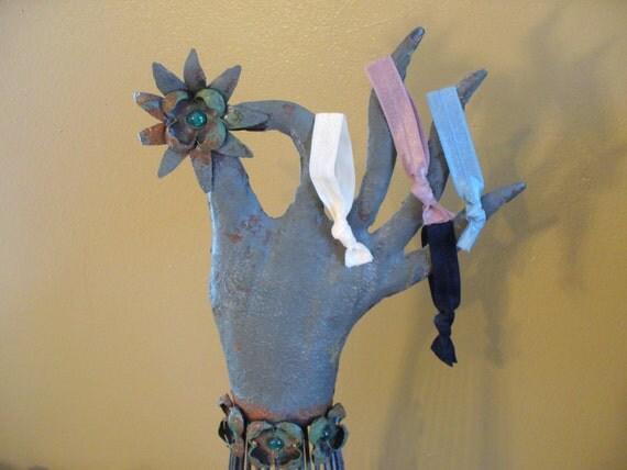 Elastic Hair Ties, Ponytail Holder, Elastic Bracelets, 4 Elastic Ties, FOE Hair Ties, Women's Accessory, Children's Accessory, MarjorieMae