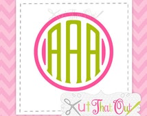 EXCLUSIVE Clubhouse Monogram with 13 Frames Included SVG & DXF Font Cut Files