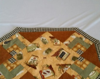 Quilted Tan & Brown Placemat Set of 4