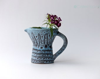 Vase ceramic blue vintage
