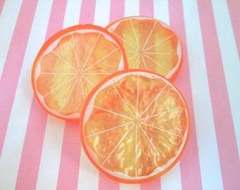 Realistic Orange Slice Cabochons Fruit Slices Citrus, #812