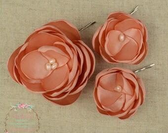 Dusky Pink Wedding - Dusty Hair Clip - Dusky Hair Flower - Dusky Bridesmaids - Pink Flower Girls - Pink Hair Clip - Dusky Pink Brooch
