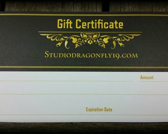 Gift Certificates Now Available/Birthday/Holiday/Anniversary /Any Occasion