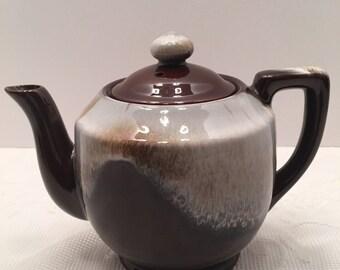Vintage Brown Drip Teapot ~ Japan